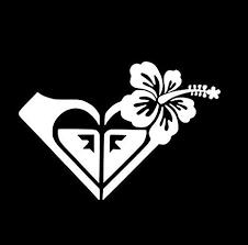Amazon Com Roxy Hawaiian Flower Vinyl 5 Color White Decal Laptop Tablet Skateboard Car Windows Stickers Arts Crafts Sewing