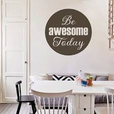Be Awesome Today Wall Decal Inspirational Quote Vinyl Art Home Room Office Decor For Sale Online