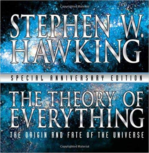 Image result for theory of everything book cover stephen hawkins