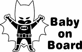 Baby On Board Cape Batman Decal Superhero Sticker Car Window Sticker Batman Decals Car Window Stickers