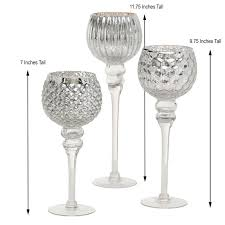 long stem shimmer goblet tall glass
