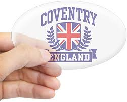 Amazon Com Cafepress Coventry England Oval Bumper Sticker Euro Oval Car Decal Home Kitchen