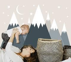 Teddy Bear Mural Wall Decals Baby Boy Nursery Cloud Moon Stars Art Sticker Decor For Sale Online Ebay