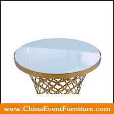 gold round coffee tables cs024