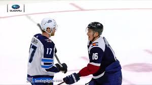 Adam Lowry vs. Nikita Zadorov, February 20, 2019 - Winnipeg Jets vs.  Colorado Avalanche