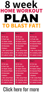 this 8 week no gym home workout plan is