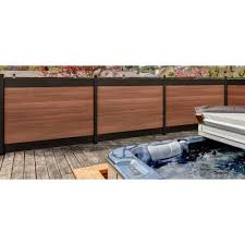 Veranda Euro Style 4 Ft X 6 Ft Black Top King Cedar Aluminum Composite Horizontal Fence Panel Ef 02101 In 2020 Horizontal Fence Fence Panels Backyard Fence Decor