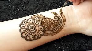 simple full hand mehndi design