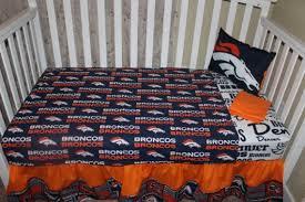 denver broncos crib baby bedding set