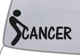 F Ck Cancer Vinyl Decal Sticker Car Window Wall Bumper Screw It Faith Hope Love For Sale Online