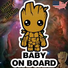 Guardians Of The Galaxy I Am Groot 2 Vinyl Decal Sticker Car Window Wall
