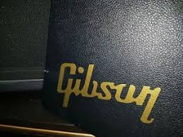 Gibson 7 5in Gold Or White Vinyl Decal Sticker For Guitar Case Laptop Window Ebay