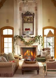 balance via the fireplace mantel