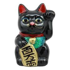 Ebros Japanese Good Luck And Fortune Charm Beckoning Cat Black Maneki Neko Money Bank Ceramic Statue 5 25 Tall Piggy Box Collectible Figurine Welcoming Lucky Symbol Walmart Com Walmart Com