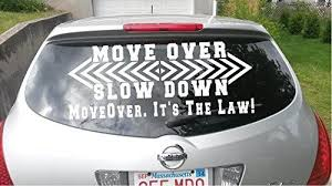 Move Over Slow Down It S The Law Custom Rear Window Tow Truck Emergency Warning Vinyl Sign Decal Increase Awareness Motor Ve Vinyl Signs Tow Truck Rear Window