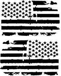 Amazon Com Distressed American Flag Vinyl Decal Matte Black 1 Left 1 Right 0062 Garden Outdoor