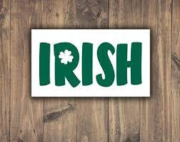 Four Leaf Clover With Heart Vinyl Decal Irish Car Window Etsy