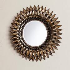 adorable round decorative mirror wall