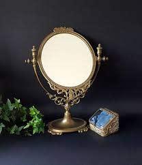 french vanity mirror gilt brass mirror