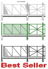 Cantilever Gate Chain Link Fence Slide Gate Kit For Self Welding With Cantilever Rollers Fence Material
