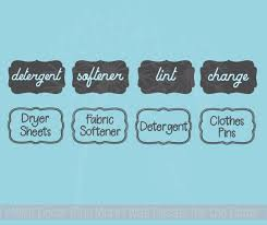 Laundry Room Labels Wall Art Jar Stickers Set Of 4 Vinyl Decals 2 Options