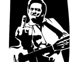 Johnny Cash Decal Etsy