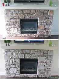 gray washed stone fireplace stone
