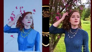 Audra miller : realistic Fan Art -drakahalys - YouTube