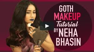 neha bhasin s goth makeup tutorial on vimeo