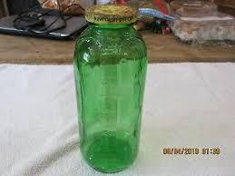 emerald green glass water juice bottle