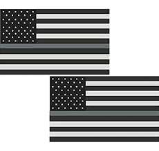 Amazon Com Lpf Usa 2 3 Thin Silver Line American Subdued Flag Decal Corrections Officer Sticker Automotive