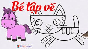 Hướng Dẫn Vẽ Con Vật Đơn Giản Cho Bé    Bé Tập Vẽ Con Mèo, Con ...