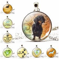 necklace dog paw glass cabochon pendant