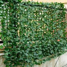 Costway 40 In X95 In Green Faux Ivy Leaf Decorative Privacy Fence Screen Artificial Hedge Fencing Gt30 In 2020 Artificial Hedges Privacy Fence Screen Fence Screening