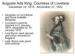 Augusta Ada King, Countess of