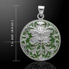 oberon zell green man 925 sterling