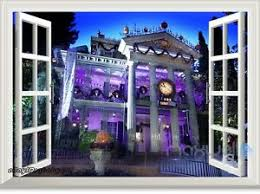 Disney Haunted Mansion Ghost House 3d Window Wall Decals Stickers Party Decor Ebay