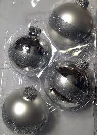 krebs ornament set of 4 glass