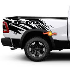 Dodge Ram Hemi Splash Grunge Logo Truck Vinyl Decal Bed Graphic