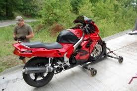 homemade motorcycle rolling wheel chock