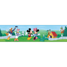 New Mickey Mouse Peel Stick Wall Border Baby Nursery Kids Room Wallpaper Walmart Com Walmart Com