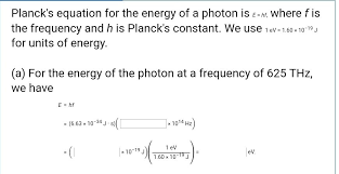 what is the equation for photon energy