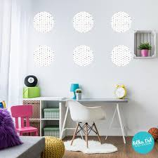 Mint Gray Pink And Gold Filled White Polka Dot Wall Decals Apartment Safe Polka Dot Wall Stickers