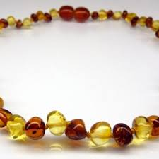 amber teething necklaces and beads