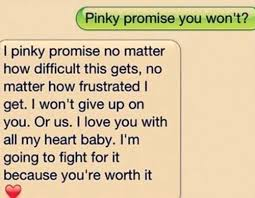 i tryied to fight for him he promised he wouldnt give up on