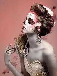dia de los muertos skull makeup