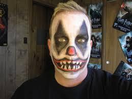 simple scary clown makeup ideas