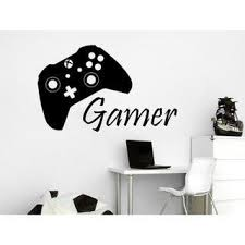 Shop Game Controller Gamer Wall Decal Game Zone Wall Decals Vinyl Stickers Joystick Sticker Decal Size 22x30 Color Black On Sale Overstock 14056943