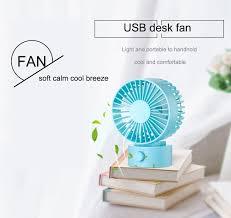 Shop Tomnew Desk Usb Fan Office Mini Fan Silent 2 Speed Desktop Fan With Double Side Fan Blades For Home Kids Room Online From Best More On Jd Com Global Site Joybuy Com