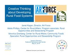 Creative Thinking about Developing Rural Food Systems